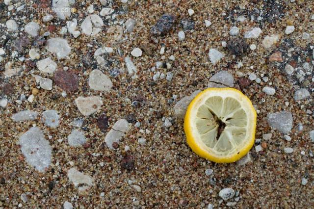 lemon sand rocks